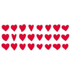 heart love romantic valentine day wedding icon set vector image
