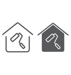 home repair line and glyph icon real estate vector image