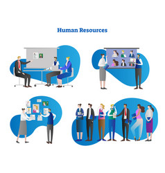 human resources collection vector image