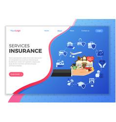 Insurance services concept vector