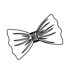 Isolated bowtie design vector