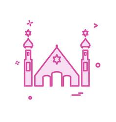 jewish temple icon design vector image