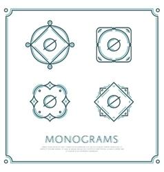 Letter O Monogram vector image