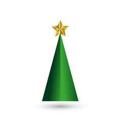 levitation christmas tree with a xmas gold star vector image