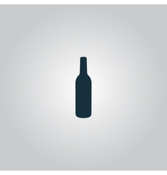 Liquor bottle icon vector