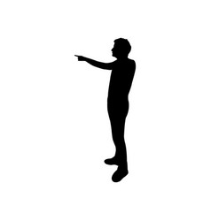 man pointing icon vector image
