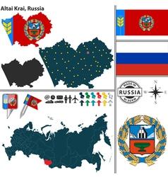 Map of Krai of Altai vector image