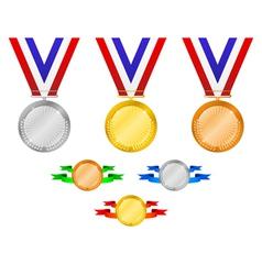 Medals set 3 vector