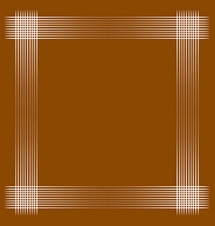 Minimal geometric frame with intersecting lines vector