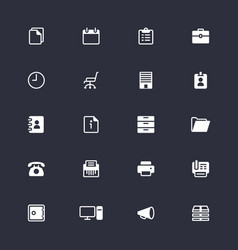 office supplies simple icons vector image