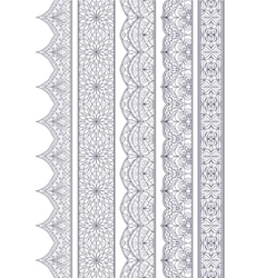 Ornamental seamless borders set for decor vector