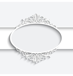 Paper label vector image