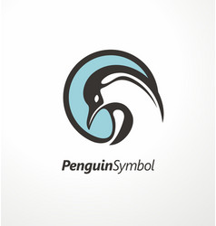 Penguin logo design vector
