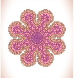 Pink lacy background vector
