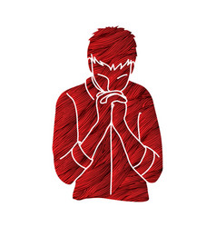 praise god prayer christian praying vector image