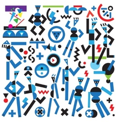 Robots icons vector image