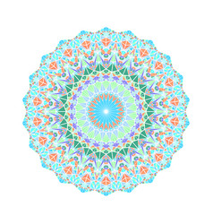 Round colorful ornate abstract triangle tile vector