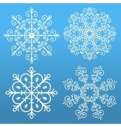 Set of 4 snowflakes vector