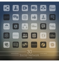Set of social network icons vector image vector image