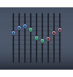 Sound slider vector image
