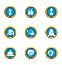 Suddenly icons set flat style vector