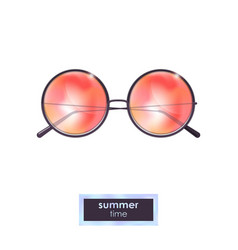 summer sunglasses with colorful gradient vector image