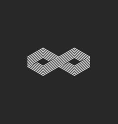 two cubes logo isometric infinite symbol infinity vector image