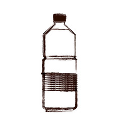 water bottle icon in brown blurred silhouette vector image