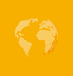 white earth on yellow background vector image