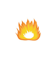 wide hand drawn fire drawing with orange and vector image