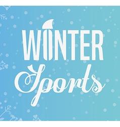 Winter sports design vector