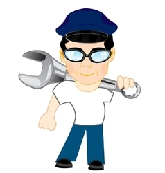 Young man with tools vector