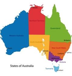 Australia map vector image vector image