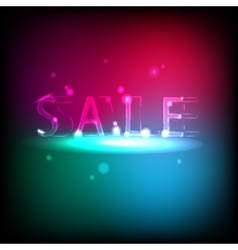 Banner with neon inscription Sale vector image vector image