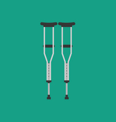 crutches vector image vector image