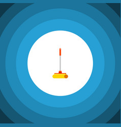 isolated sweep flat icon cleaner element vector image