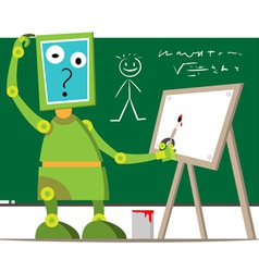 robot in school vector image