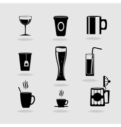 Set of cups vector image vector image