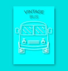 vintage bus poster background vector image