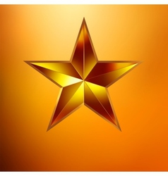a Gold star on gold vector image
