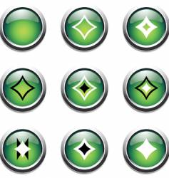 green buttons with decoration vector image vector image