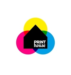 Printing icon print-house ink symbol design vector image vector image