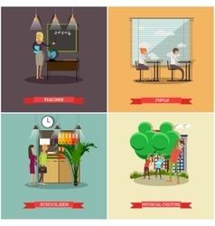 set of school concept design elements in vector image vector image