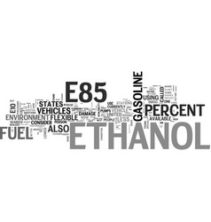 why should i use e ethanol text word cloud concept vector image vector image