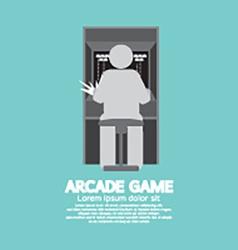 Arcade Machine Player Graphic Symbol vector image