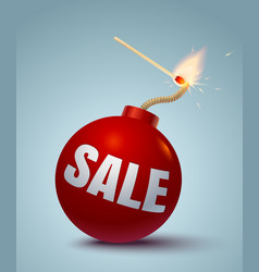 bomb for sale vector image vector image
