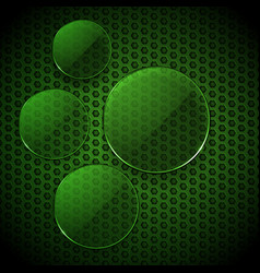 green glass circles info graphic blank vector image vector image