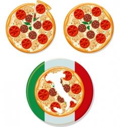 pizza Italian vector image