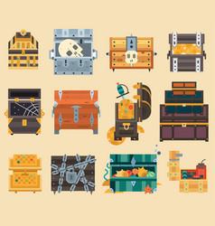 treasure trunk chest box vector image