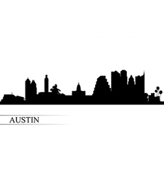 Austin city skyline silhouette background vector image